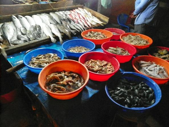 Рыбный базарчик в Кочине