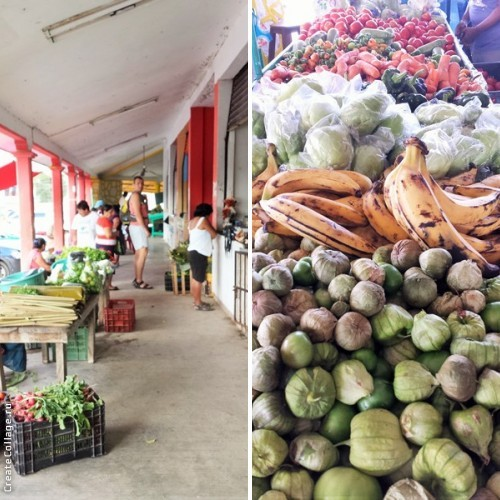 A local market in Bacalar