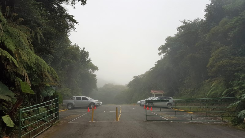 Volcano Poas. Parking