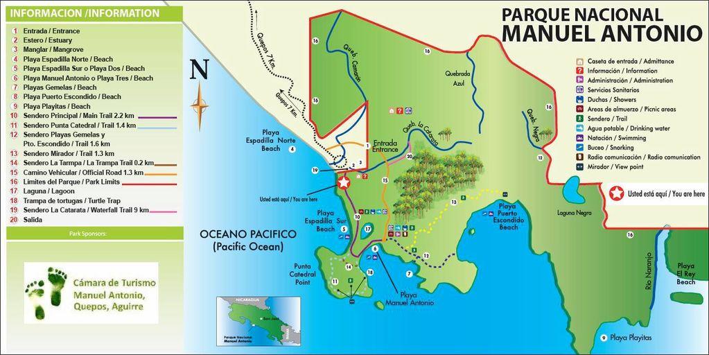 Manuel_Antonio_Naitonal_Park_Map