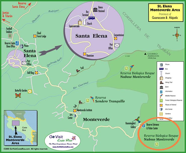 Monteverde map