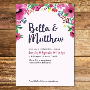 atercolour Wedding Invitation