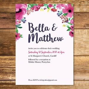 atercolour Wedding Invitation