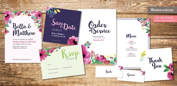 atercolour Wedding Invitation Collection