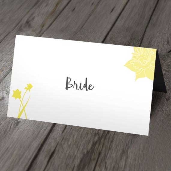 daffodil place card