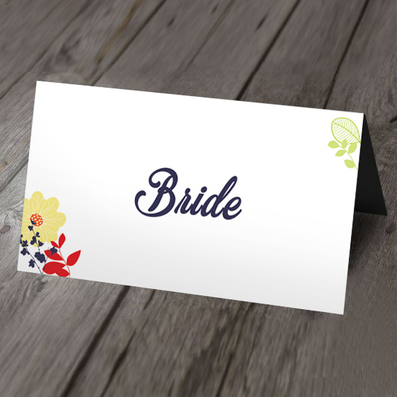 exotic wedding place card