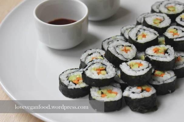 Veganes Sushi - nah