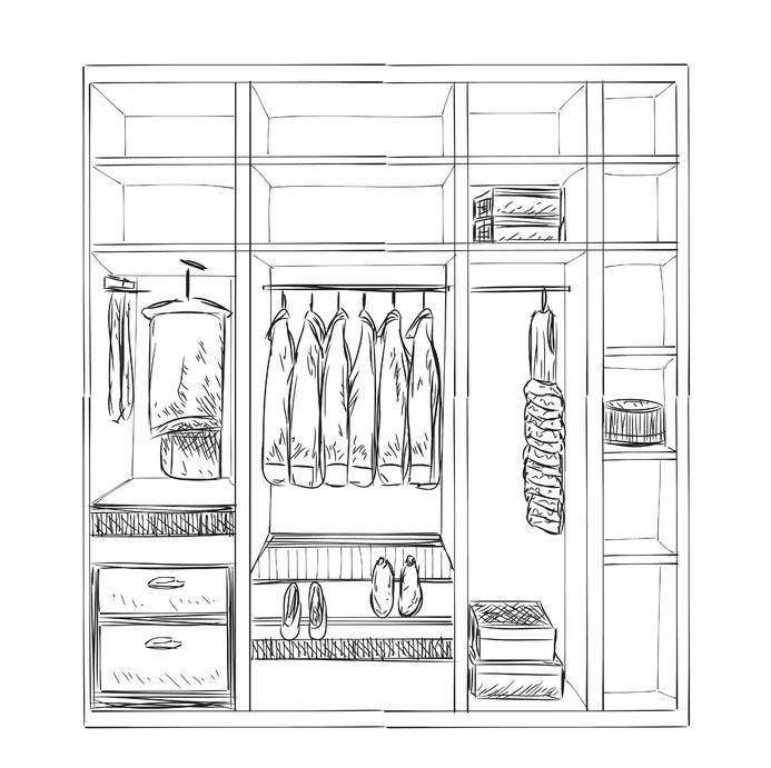именно картинка раскраска шкаф с одеждой идеи создания