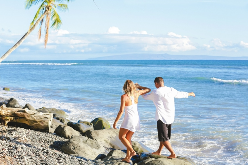 Maui surfboard wedding www.lovewaterphoto.com #maui #hawaii #elopement #surfboard #wedding #destinationwedding #bride #weddingphotography #beachwedding