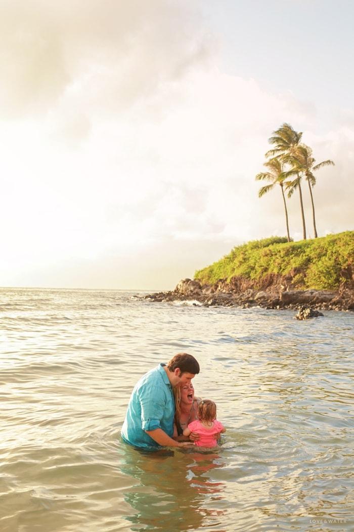 Maui Photographers family portrait session Kapalua Bay