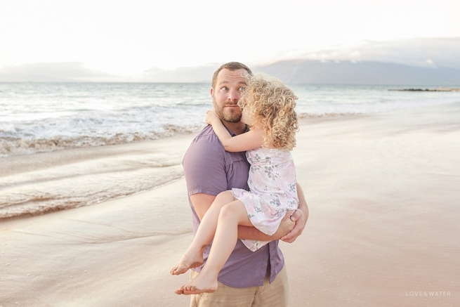 Father and daughter photography Maui