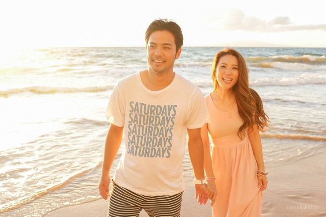 Maui engagement session at the beach