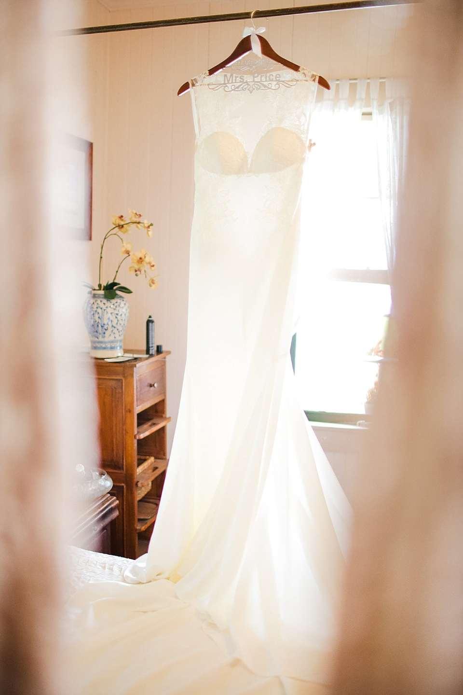 Wedding dress details Maui wedding