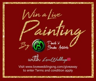 Win a Live Painting Wedding Giveaway Pencils n Brushes Artworks LoveWeddingsNG Giveaway 7
