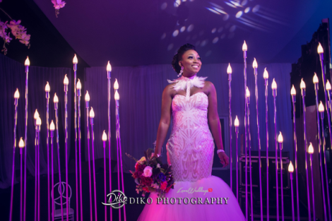 Nigerian Bride Reception Dress Toyosi Ilupeju and Wole Makinwa WED Dream Wedding Details Diko Photography LoveWeddingsNG 2