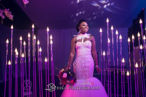 Nigerian Bride Reception Dress Toyosi Ilupeju and Wole Makinwa WED Dream Wedding Details Diko Photography LoveWeddingsNG 2