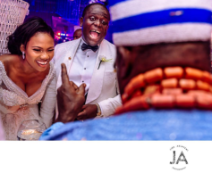 Nigerian Wedding Bride and Groom Laughing Jide Akinyemi Photography LoveWeddingsNG