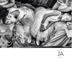 Nigerian Wedding Tired Little Brides asleep Jide Akinyemi Photography LoveWeddingsNG