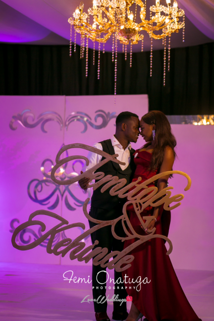 Nigerian Bride and Groom Reception with signage Temi and Kehinde #TKTheWedding 2706 Events LoveWeddingsNG 2