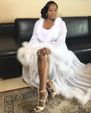 2017 Nigerian Wedding Trend Tulle Feathered Bridal Robes LoveWeddingsNG