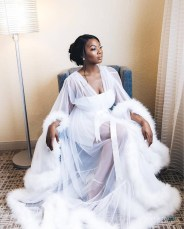 2017 Nigerian Wedding Trends Feather Bridal Robes Tulle LoveWeddingsNG