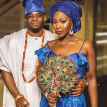 2017 Nigerian Wedding Trends Peacock Traditional Bridal Hand Fan LoveWeddingsNG