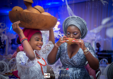 Busola Makiwa and Stian Fossengen Traditional Wedding Palm Wine Frank Ugah Photography LoveWeddingsNG