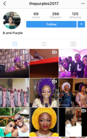 Nigerian Joint Instagram Couple Account The Purples 2017 LoveWeddingsNG