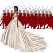 Andrea Iyamah Agbani Darego Lean Kid Okhai Illustrator LoveWeddingsNG