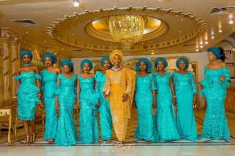 Nigerian Hot Wedding News Teal Aso Ebi #Alfreds2017 LoveWeddingsNG