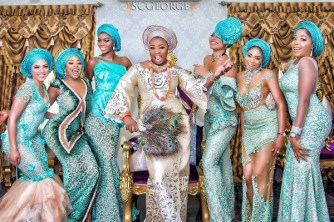 Nigerian Hot Wedding News Teal Aso Ebi #TheSOLExperience17 LoveWeddingsNG