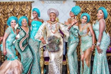 Nigerian Hot Wedding News Teal Aso Ebi #TheSOLExperience17 LoveWeddingsNG