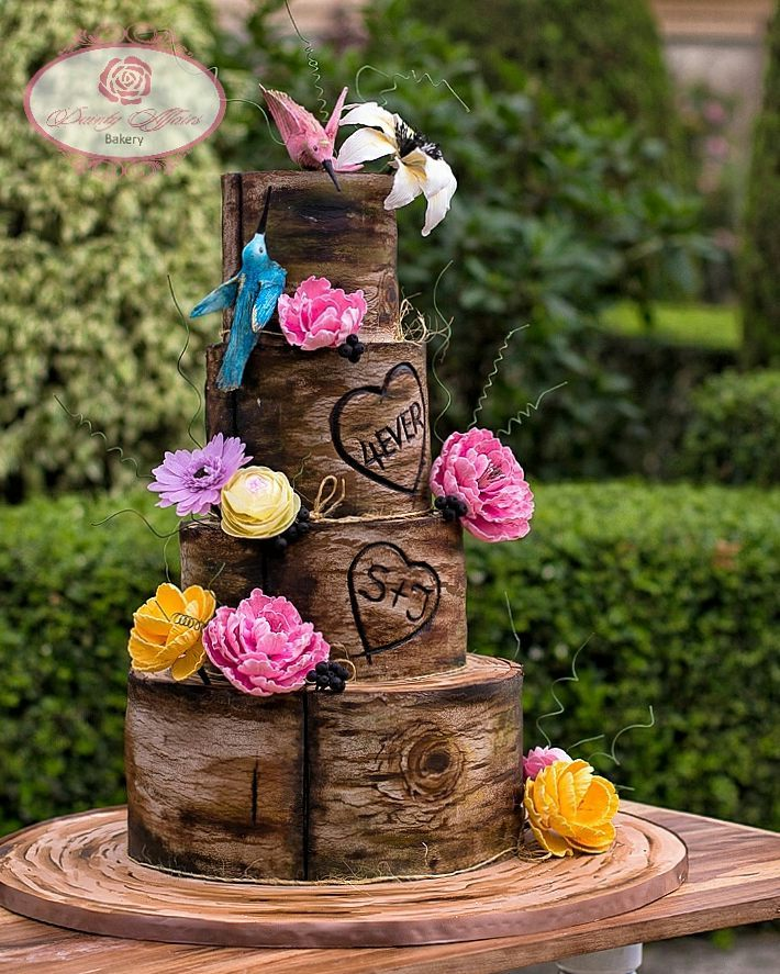 Nigerian Wedding Weekly News Rustic Nigerian Wedding Cake Dainty Affairs LoveWeddingsNG