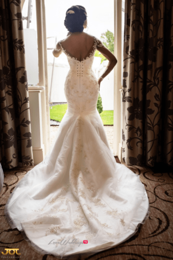 Ghanaian Wedding Bridal Gown Kosibah Bema and Cherelle Adjei-Ampofo JOT Photography LoveWeddingsNG 1