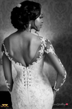 Ghanaian Wedding Bride in Illusion Sleeves Bema and Cherelle Adjei-Ampofo JOT Photography LoveWeddingsNG 1