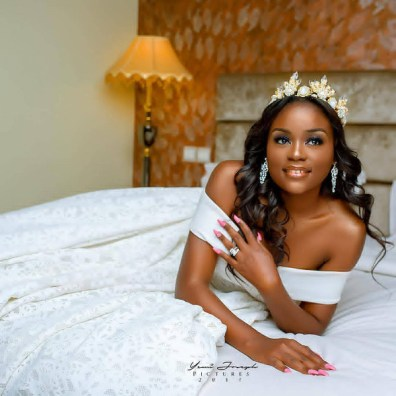 Nigerian Bride Kiki wears wedding gown for birthday shoot
