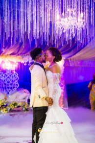Nigerian Celebrity Wedding OritseFemi and Nabila kiss #ON2017 HB Pixels LoveWeddingsNG