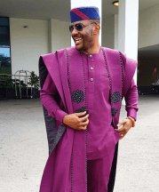 Ebuka's Agbada by Ugo Monye to Banky W and Adesua Etomi's Traditional Wedding #BAAD17 LoveWeddingsNG 5