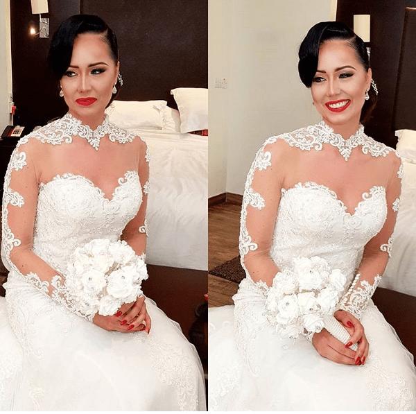 Nigerian Wedding Trends 2017 Illusion SLeeves on Bridal Gowns LoveWeddingsNG
