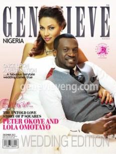 Genevieve Magazine December 2013 Peter and Lola Okoye LoveWeddingsNG