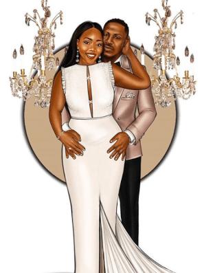 Wedding Illustrator Peniel Enchil and husband LoveWeddingsNG #IssaChillTeng