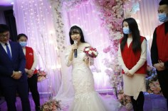 Yang Chunyan marries herself in Wulong People's Hospital in Chongqing, China LoveWeddingsNG 2