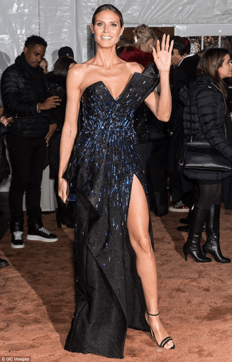 Heidi Klum in Zuhair Murad amfAR Gala New York LoveWeddingsNG