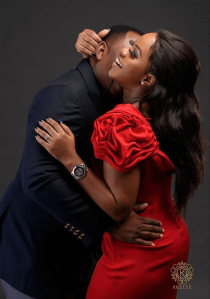 Nigerian Studio PreWedding Shoot Keziie LoveWeddingsNG