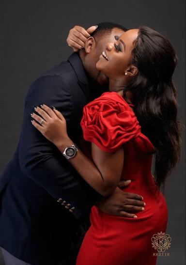 Nigerian Studio PreWedding Shoot Keziie LoveWeddingsNG