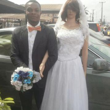 Nigerian man weds sex doll in Lagos LoveWeddingsNG