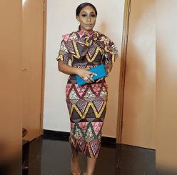 Outfit: Lanre da Silva Ajayi''s Audrey Bow Dress   Event: Media Room Hub launch