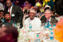 Fatima Aliko Dangote and Jamil Abubakar's #Famil2018 Wedding - Vice President Osinbajo, Aliko Dangote and Bill Gates LoveWeddingsNG