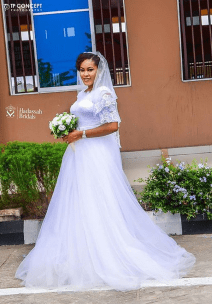 Nigerian Brides who wore Nigerian bridal designs - Loveth in Hadassah Bridals LoveWeddingsNG 1