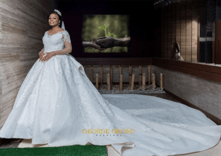 Nigerian Brides who wore Nigerian bridal designs - Maryanne Ifeoma in JBecks Bridals LoveWeddingsNG 2